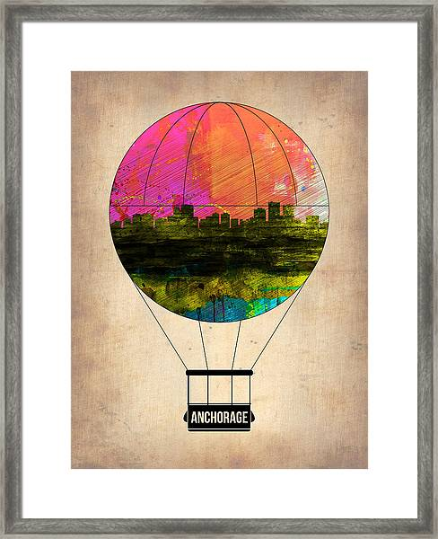 Anchorage Air Balloon  Framed Print