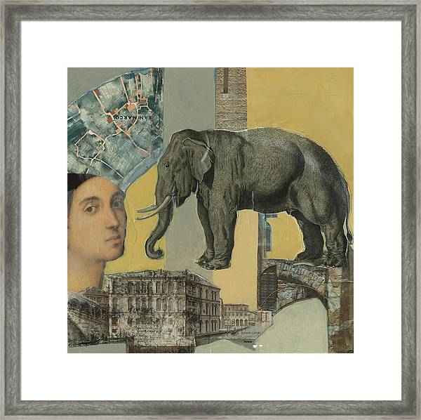 Ancient Elephant Framed Print