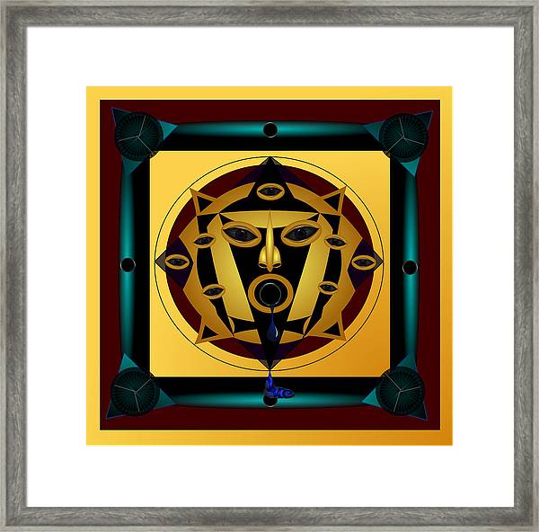 Ancient Eyes Framed Print