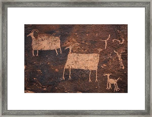 Ancient Hunt Framed Print