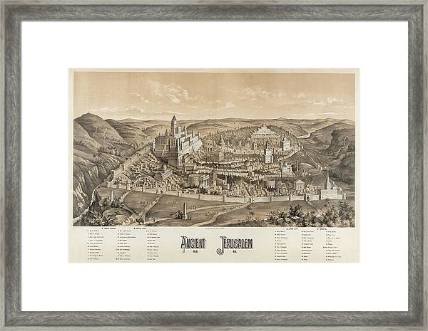 Ancient Jerusalem Framed Print by Library Of Congress/science Photo Library