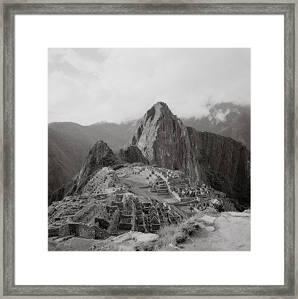 Ancient Machu Picchu Framed Print