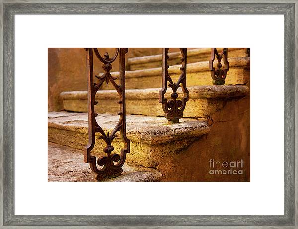 Framed Print featuring the photograph Ancient Steps by Brian Jannsen