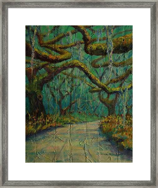 Ancient Tapestry Framed Print