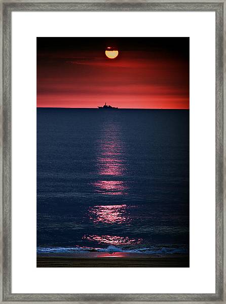 And All The Ships At Sea Framed Print