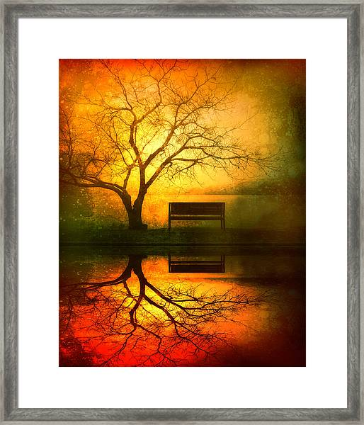 And I Will Wait For You Until The Sun Goes Down Framed Print