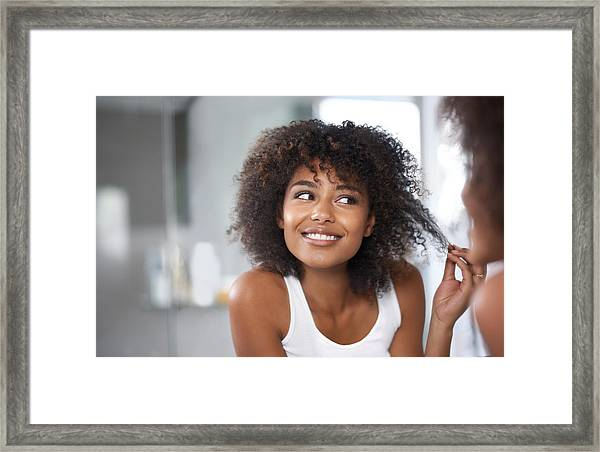 And I'm Finally Split-end Free! Framed Print by PeopleImages