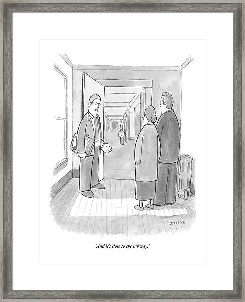 And It's Close To The Subway Framed Print