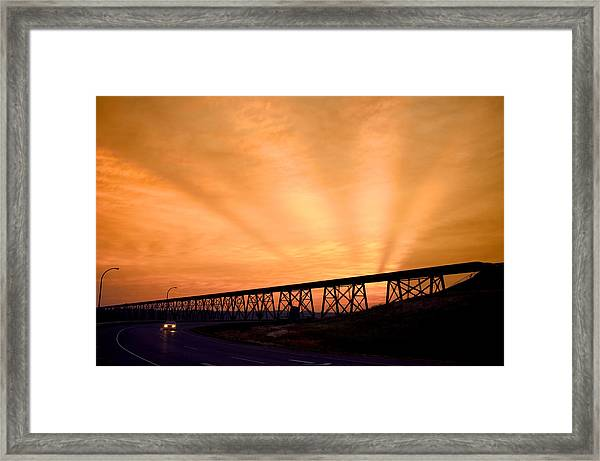 And The Sky Was On Fire Framed Print