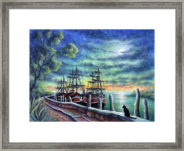 And We Shall Sail My Love And I Framed Print