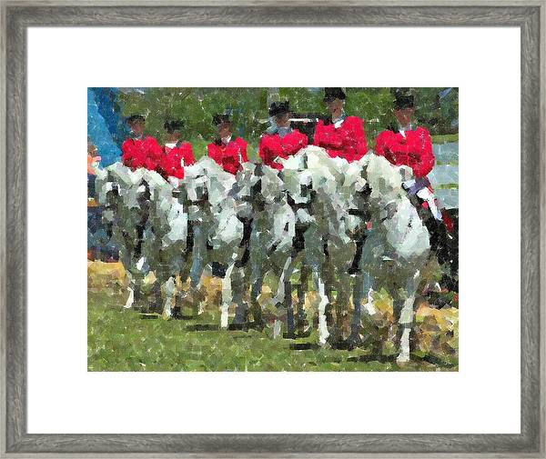 Andalusian Lineup Pastels Framed Print by Olde Time  Mercantile