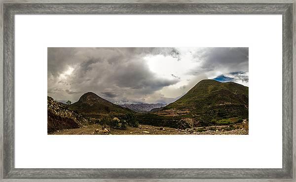 Andean Hills Framed Print