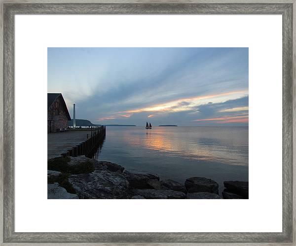 Anderson Dock Sunset Framed Print