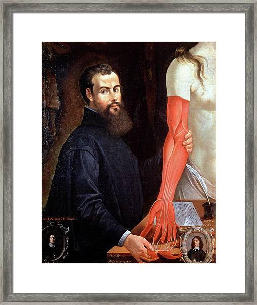 Andreas Vesalius Framed Print by Cci Archives/science Photo Library