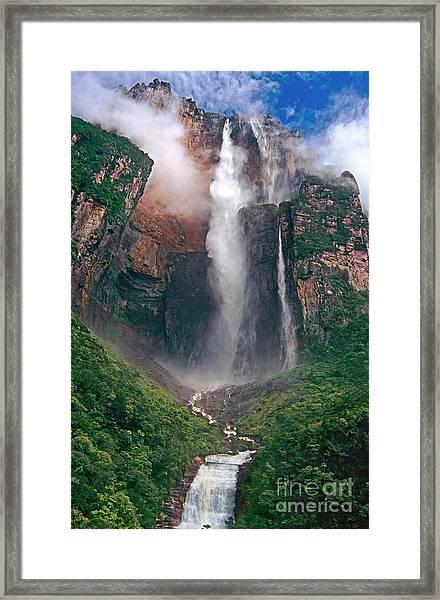 Angel Falls In Venezuela Framed Print