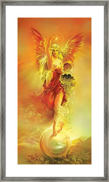 Angel Of Abundance - Fortuna Framed Print