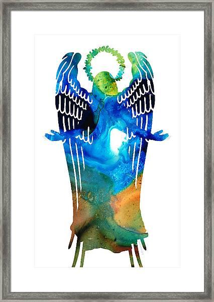Angel Of Light - Spiritual Art Painting Framed Print