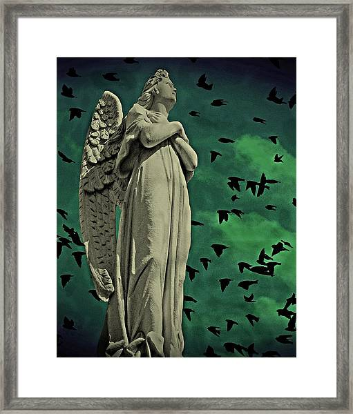 Framed Print featuring the photograph Angel Of Stone by David Dehner