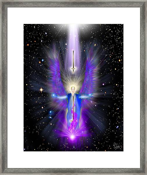 Angel Of The Violet Flame Framed Print