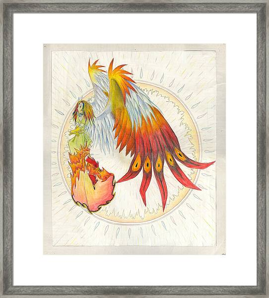 Angel Phoenix Framed Print