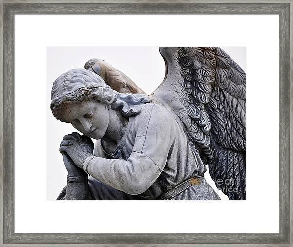 Angel Praying 2 Framed Print