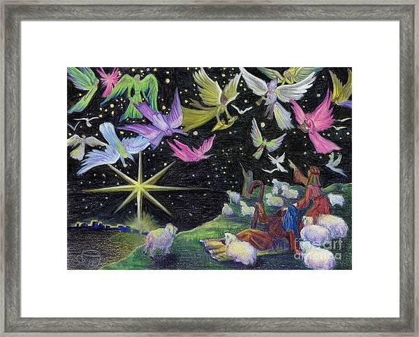 Angel Skies Framed Print