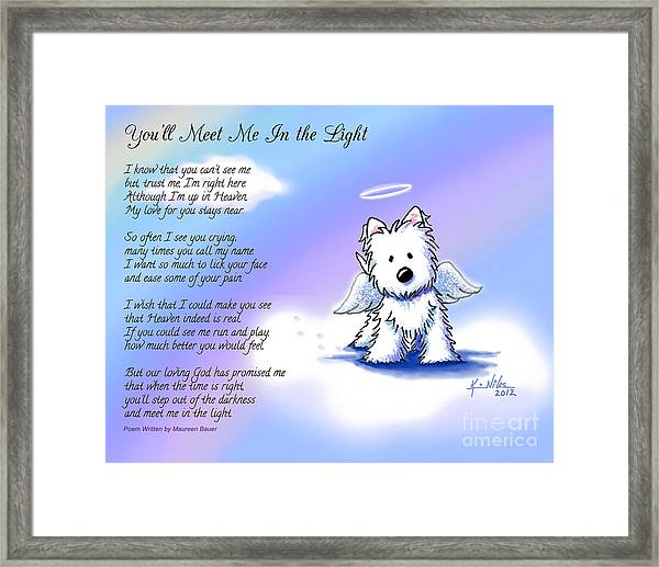 Angel Westie With Poem Framed Print