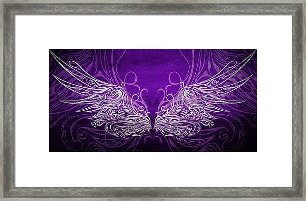 Angel Wings Royal Framed Print