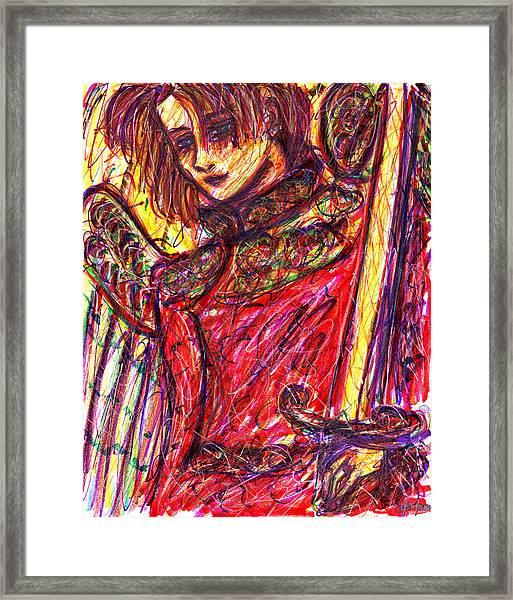 Angelic Warrior Framed Print