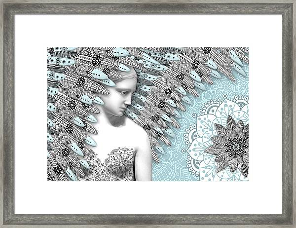 Angelica Hiberna - Angel Of Winter Framed Print