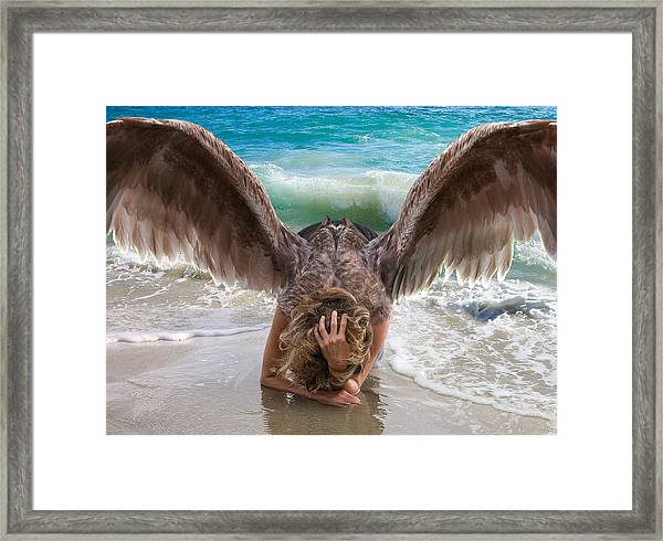 Angels- I Will Not Give Up On You Framed Print