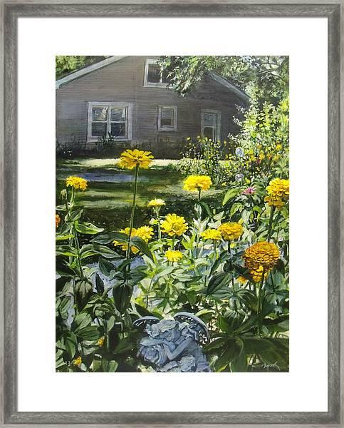 Angels In My Yard Framed Print
