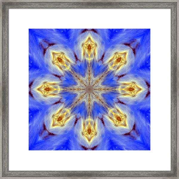 Angels In The Sky Mandala Framed Print