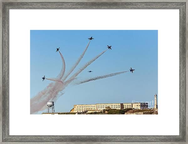 Angels Over Alcatraz Framed Print