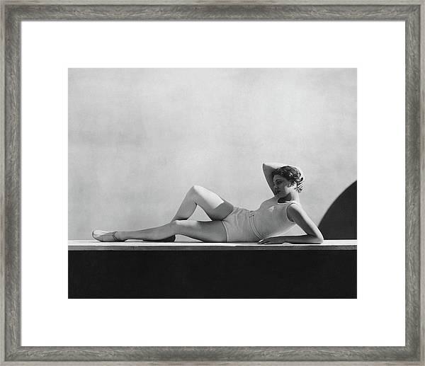 Angeta Fischer In Schiaparelli Framed Print by George Hoyningen-Huene