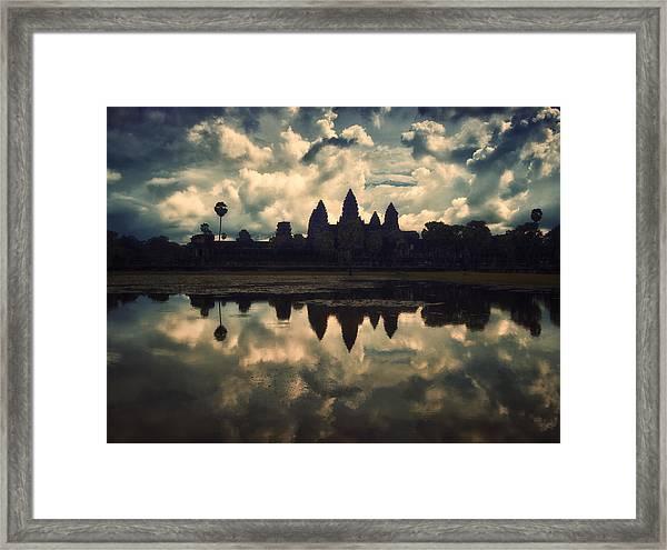 Angkor Wat Sunset Framed Print
