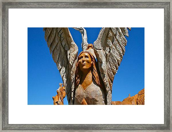 Angle Tree In Bay St. Louis Framed Print
