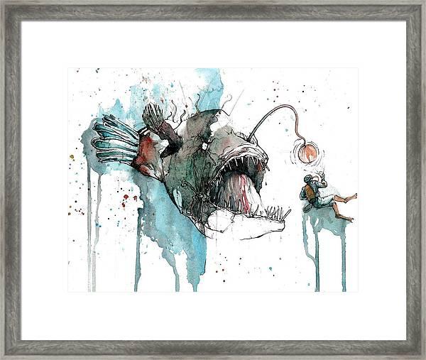 Angler  Framed Print by Michael Pattison