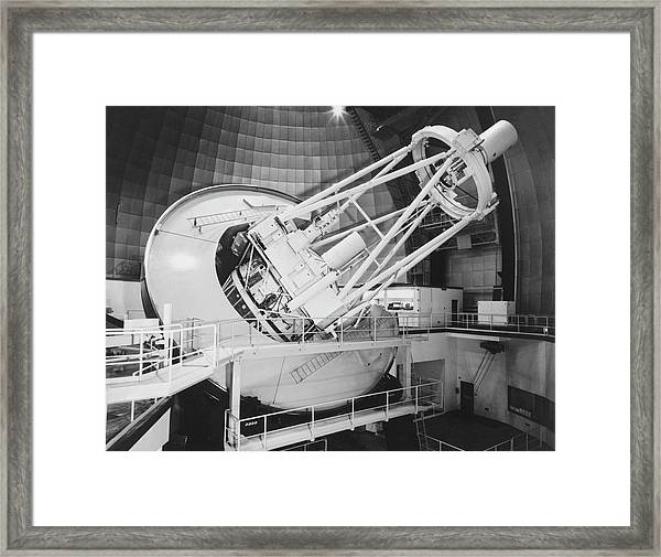 Anglo-australian Telescope Framed Print by Royal Astronomical Society/science Photo Library