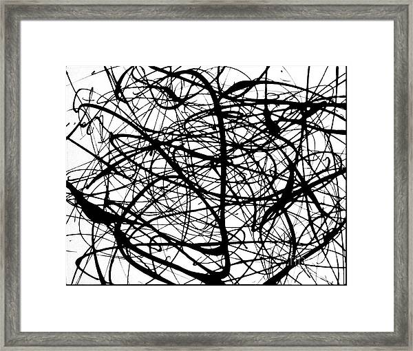 Angry Bird Catcher - Abstract Framed Print