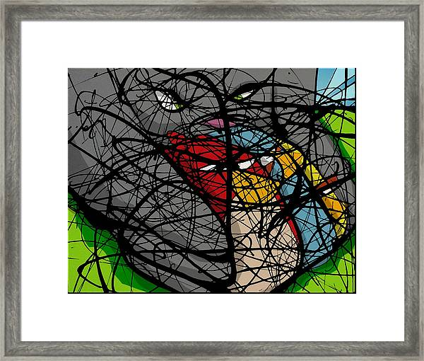 Angry Bird Catcher - Extraction Framed Print