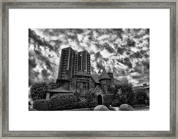 Angry House Framed Print