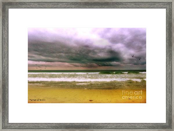 Angry October Sky Framed Print