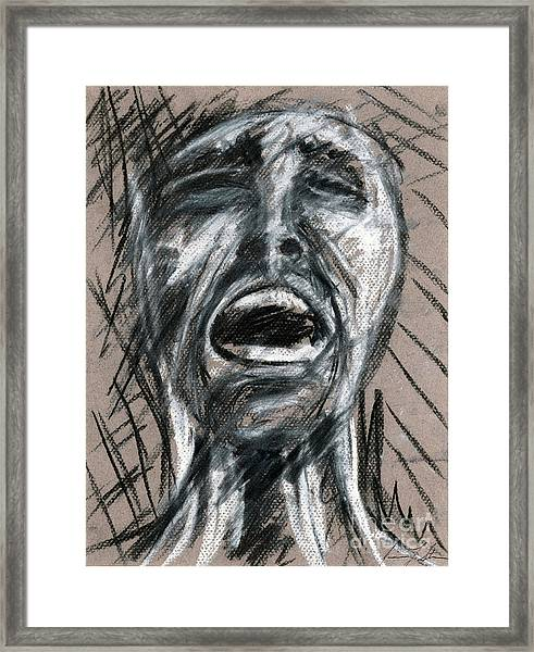 Anguish Framed Print by Jessica Sturges