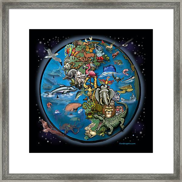 Animal Planet Framed Print