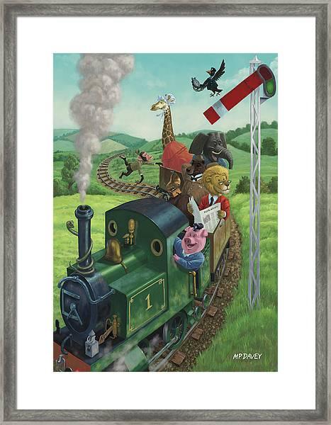 Animal Train Journey Framed Print