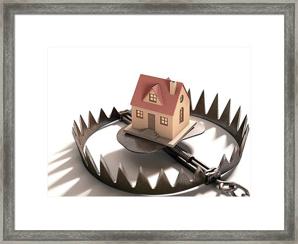 Animal Trap With House Framed Print