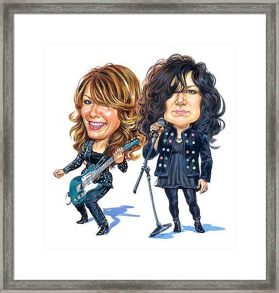 Ann And Nancy Wilson Of Heart Framed Print