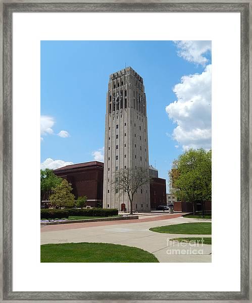 Ann Arbor Michigan Clock Tower Framed Print