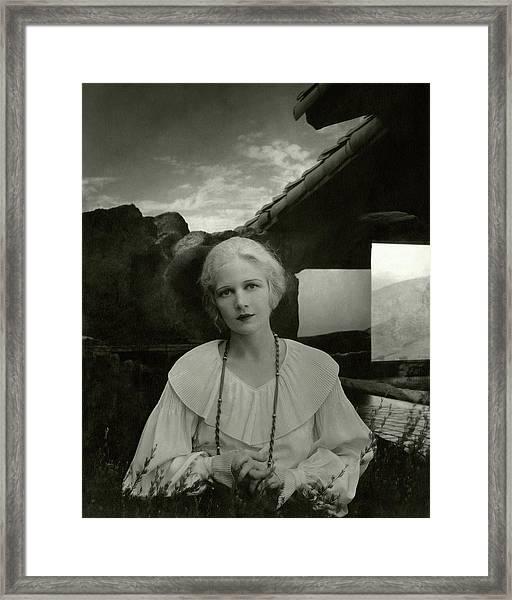 Ann Harding Wearing A Blouse Framed Print